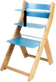 Wood Partner Krzesło rosnące dla dzieci UNIZE naturalny/niebieski