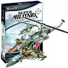 Cubicfun Puzzle 3D 2w1 Śmigłowiec AH1 Cobra i Myśliwiec SU-35 P628h