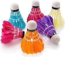 Rox Lotki do badmintona z naturalnych piór 6 szt. Kolorowe