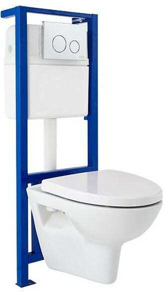 Cersanit Zestaw podtynkowy WC Galaxy z miską Parva i deską SZWZ1002431880