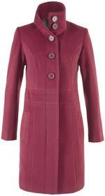 Bonprix Płaszcz czerwony purpurowy