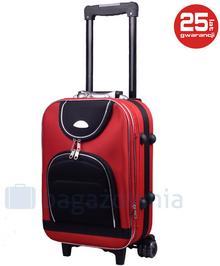 PELLUCCI Mała kabinowa walizka PELLUCCI 801 S - Czerwony / Czarny - czarny / czerwony