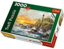 Trefl Puzzle 33044 Zachód nad skalistym wybrzeżem 3000 elementów)