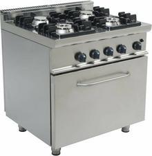 Saro Kuchnia gazowa z piekarnikiem gazowym | 4 palniki | 800x700x850mm 3-1030