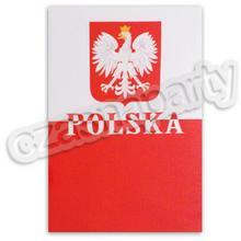 Naklejka kibica POLSKA 13x18 1 szt.