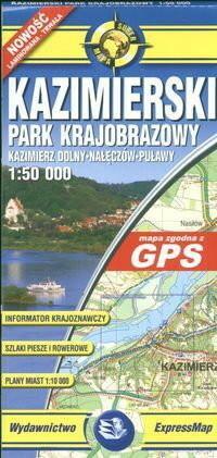 ExpressMap praca zbiorowa euromapa Kazimierski Park Krajobrazowy. Papierowa mapa turystyczna 1:50 000