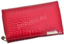 Pellucci Portfel damski skórzany Jennifer Jones 5261 Czerwony - czerwony 5261 czerwony-0