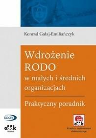 Gałaj-Emiliańczyk Konrad Wdrożenie RODO w małych i średnich organizacjach - dostępny od ręki, natychmiastowa wysyłka
