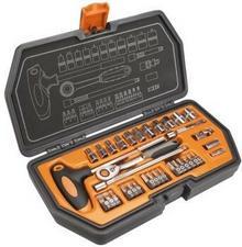 """NEO-TOOLS Zestaw kluczy nasadowych 1/4"""""""" - 34 elementy - NEO TOOLS (08-601)"""