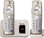 Panasonic KX-TGE 222Duo telefon bezprzewodowy z automatyczna sekretarka (DECT) KX-TGE222GN