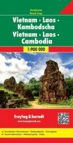 Freytag&berndt Wietnam Laos Kambodża mapa 1:900 000 - Freytag & Berndt