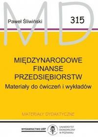 Śliwiński PawełMiędzynarodowe finanse przedsiębiorstw