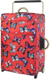 IT Luggage World's Lightest Red Butterfly duża walizka 22-1197A02-P287 Red Butterfly L