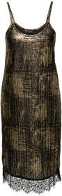 Bonprix Sukienka z koronką złocisto-czarny