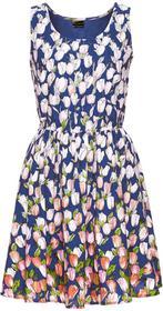 Bonprix Sukienka niebieski z nadrukiem