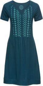 Bonprix Sukienka shirtowa, krótki rękaw niebieskozielony morski