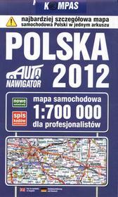 Polska 2012 Mapa samochodowa 1:700 000 dla profesjonalistów