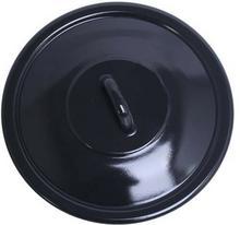 Emalia Pokrywka emaliowana czarna 24 cm