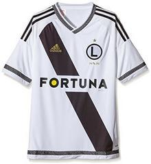 Adidas Dzieci Team trykot Legia Warszawa trykot, biały S89000_White/Black/Dark Football Gold_128