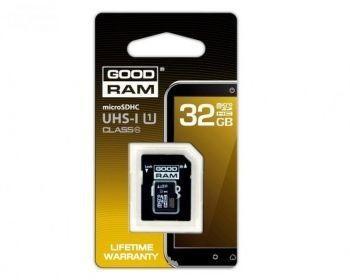 Goodram MicroSDHC Class 10 UHS-I + Adapter 32GB