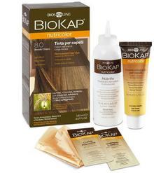 Bios Line S.P.A. BIOKAP NUTRICOLOR Farba koloryzująca 8.0 Jasny blond 140ml