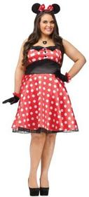 Unbekannt Plus Size retro Miss Mouse sukni Costume Plus 120755-N/A-PS  16W - 20W