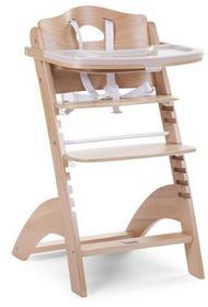 Childhome Krzesełko drewniane do karmienia dla niemowląt Lambda 2 - naturalne drewno- Childhome LAMBDA 2 NATURALNE DREWNO