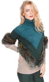 Versace Sweter Niebieski Zielony Brązowy S (196312)