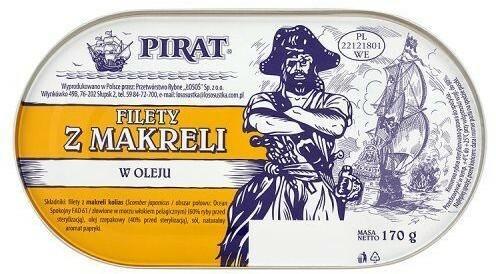 Łosoś Filety z makreli w oleju 170 g Pirat