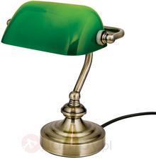 Orion Zora bankierska lampa stołowa, szklany klosz