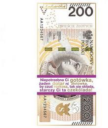Czekolada 200 PLN CZEKOLADA ZAMIAST KASY 100g 1 szt. KAT02034