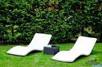 Bello Giardino Leżaki ogrodowe z czarnego technorattanu LO.004.003