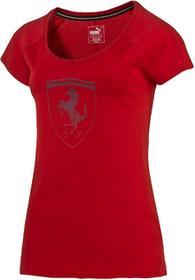 Puma koszulka Ferrari Big Shield Tee Rosso Corsa S