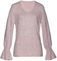Bonprix Sweter z szerokim rękawem matowy jasnoróżowy melanż