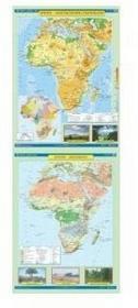 Afryka mapa ścienna dwustronna ukształtowanie powierzchni - krajobrazy 1:9 000 000 Nowa Era