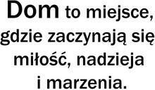 Naklej-to.pl naklejka napis Dom to miejsce naklejki