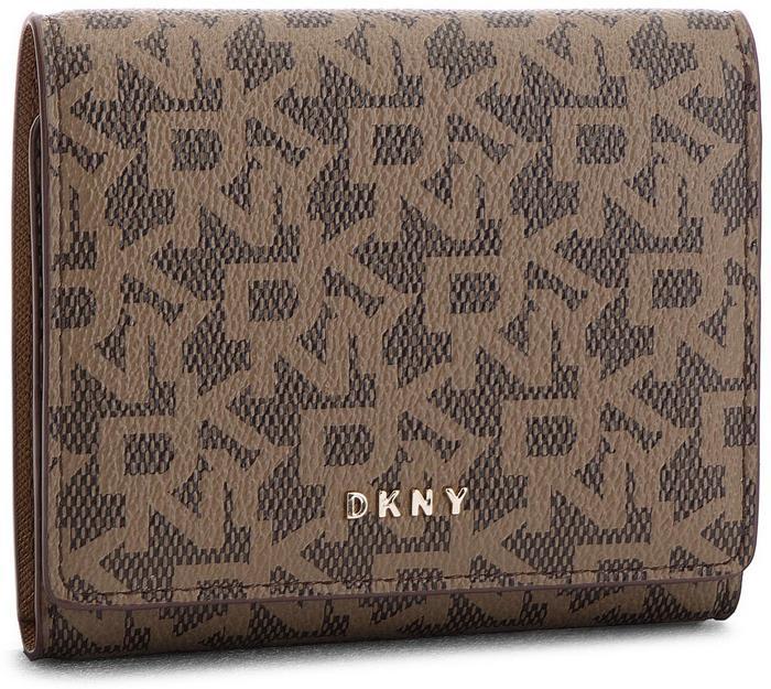 4531b5e8000ef DKNY Mały Portfel Damski Bryant-Trifold Wallet Logo R741J100 Mocha Logo Vic  9MV - Ceny i opinie na Skapiec.pl