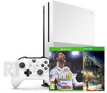 Microsoft Xbox One S 500GB Biały + Assassin's Creed: Origins + FIFA 18 + 6M Live Gold