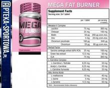Bio Tech Mega Fat Burner - 90 tabl CCCD-658D5