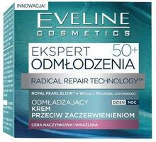 Eveline Ekspert 50+, odmładzający krem przeciw zaczerwienieniom dla cery naczynkowej dzień/noc, 50 ml