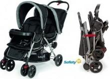 Safety 1st DUODEAL wózek spacerowy bliźniaczy black/grey