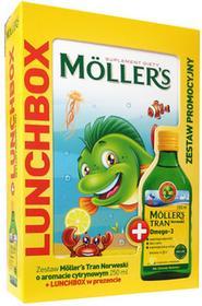 ORKLA CARE S.A. MOLLERS Tran Norweski o aromacie cytrynowym 250ml + Lunchbox