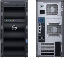 Dell Serwer PowerEdge T130 E3-1220v6 1x8GBub 2x 1TB SATA 3,5'' cabled Entry S130 DVD-RW 3yNBD SPL PET130PL1a