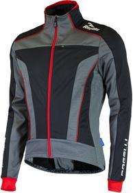 Rogelli TRANI 3.0 zimowa kurtka rowerowa czarno-czerwona
