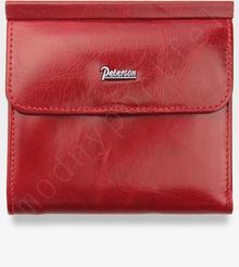 Peterson Portfel Damski Skórzany 499 Czerwony 499 PL209 RED