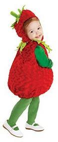 Underwrapsunderwraps Strawberry kostium dla dzieci -  small czerwony B019A8JJXG
