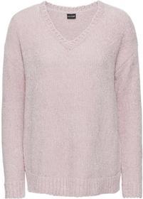 Bonprix Sweter z szenili: must have jasnoróżowy
