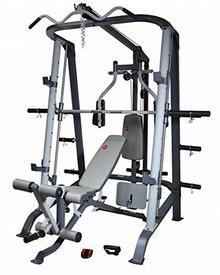 AsVIVA Prasa asviva stacja kulturystyczna power Multi II Gym Multi Weight Bench, czarny/szary, MS2 MS2_Schwarz/Grau_1