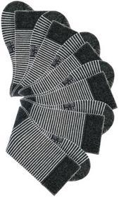 Bonprix Skarpetki w paski H.I.S (6 par) czarny + biel wełny