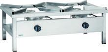 Asber Taboret gazowy 2-palnikowy, gaz ziemny, 18 kW, 1160x580x440 mm | ECO COOK GSPE-1200-NG